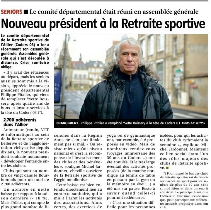 nouveau président à la retraite sportive CODERS 03