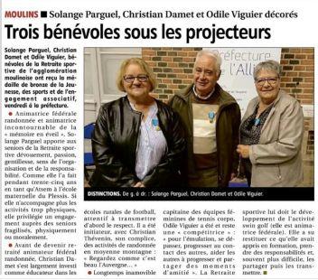 Trois bénévoles sous les projecteurs