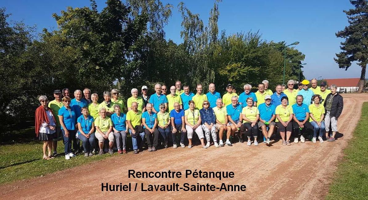 Rencontre des clubs d'Huriel et Lavault-Sainte-Anne