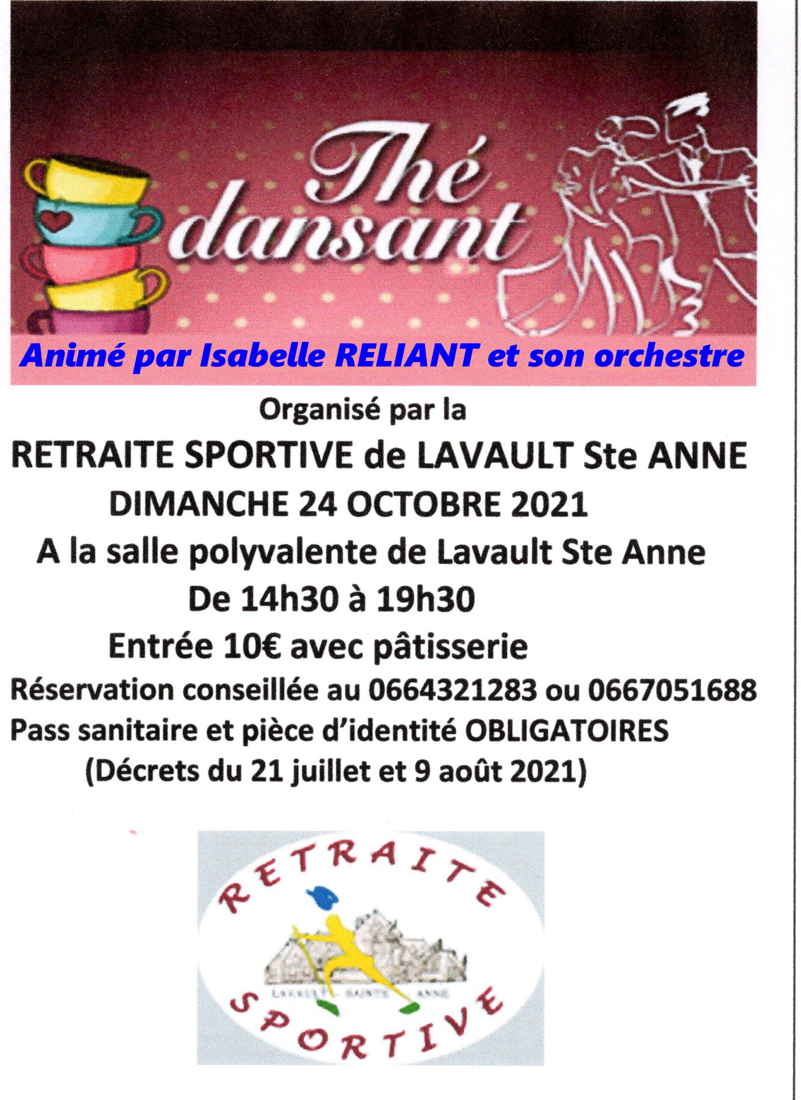 Thé dansant à LAVAULT Ste ANNE